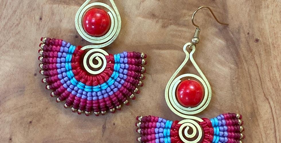 Fire & Ice (fotiá kai págo) - Handmade Greek Earrings