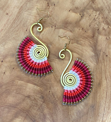 Grecian Sunset - Handmade Greek Earring