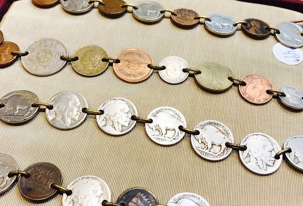 De-commissioned Coin Bracelet