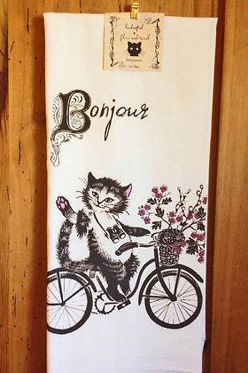 Bonjour - Original Art Dishtowel