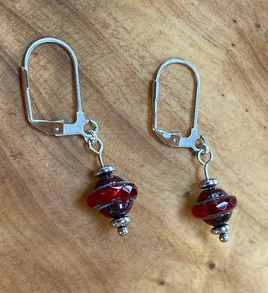 Czechoslovakian Glass and Surgical Steel Earrings