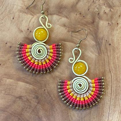 Solar Flair - Handwoven Greek Earrings