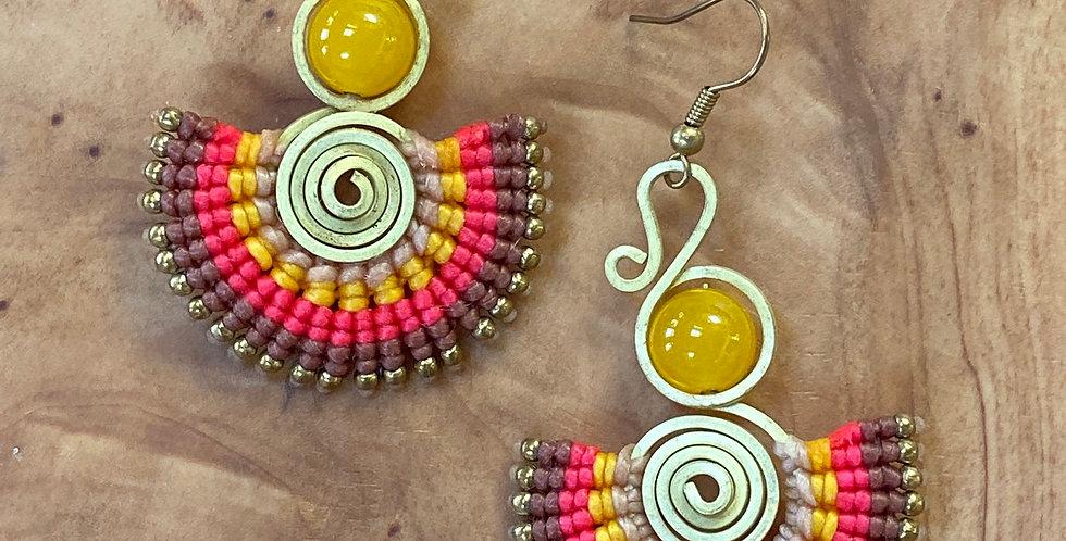 Solar Flair - Handmade Greek Earrings