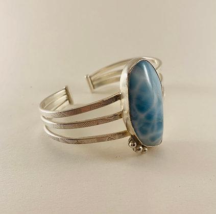 Larimar & Sterling Silver Bracelet