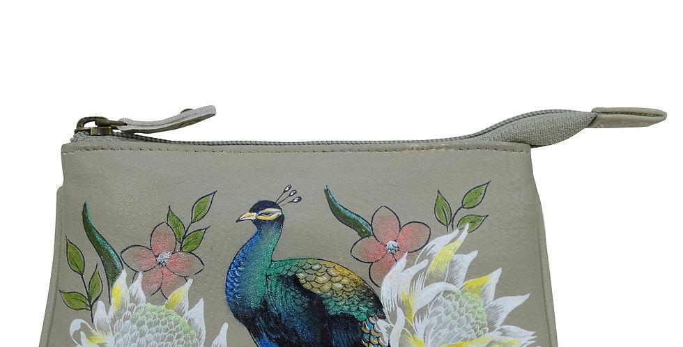 *Regal Peacock Medium Zip Pouch by Anuschka