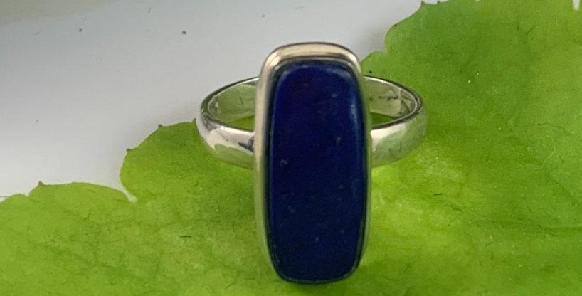 Long Lapis & Sterling Silver Ring