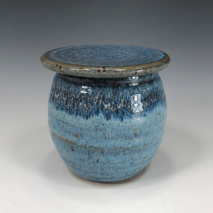 French Butter Bell, blueberry glaze