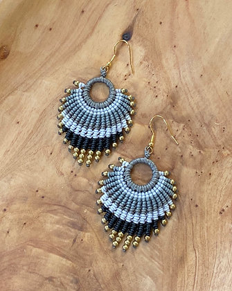 Stormy Seas - Handwoven Greek Earrings