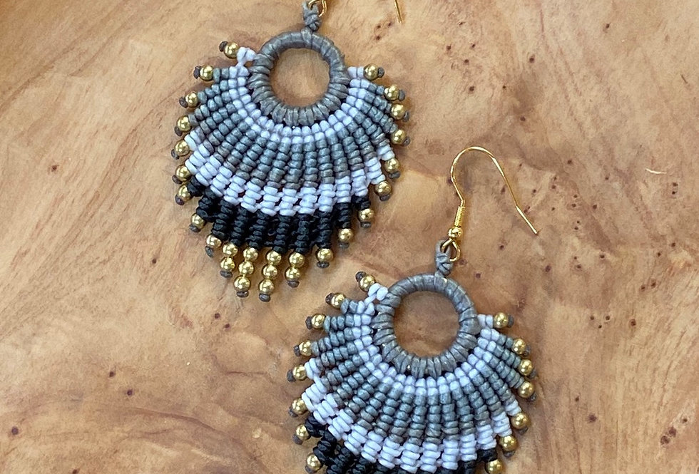 Stormy Seas - Handmade Greek Earrings