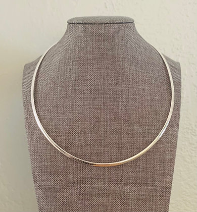 """Omega Chain, 18"""" Sterling silver Plated"""