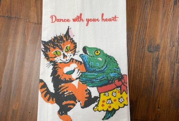 """Dance with your heart..."" - Original Art Dishtowel"