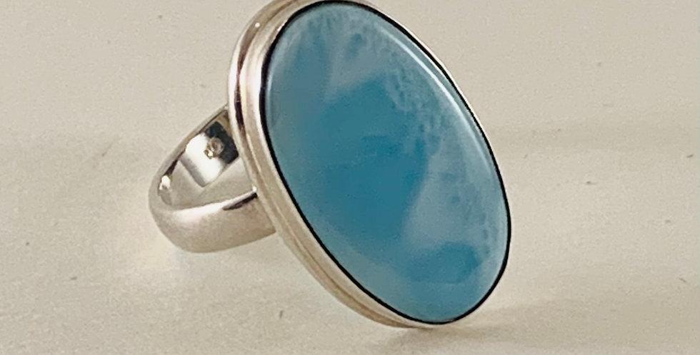 Larimar & Sterling Silver Ring