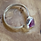 Thumbnail: Rough Pink Tourmaline and Sterling Silver Ring