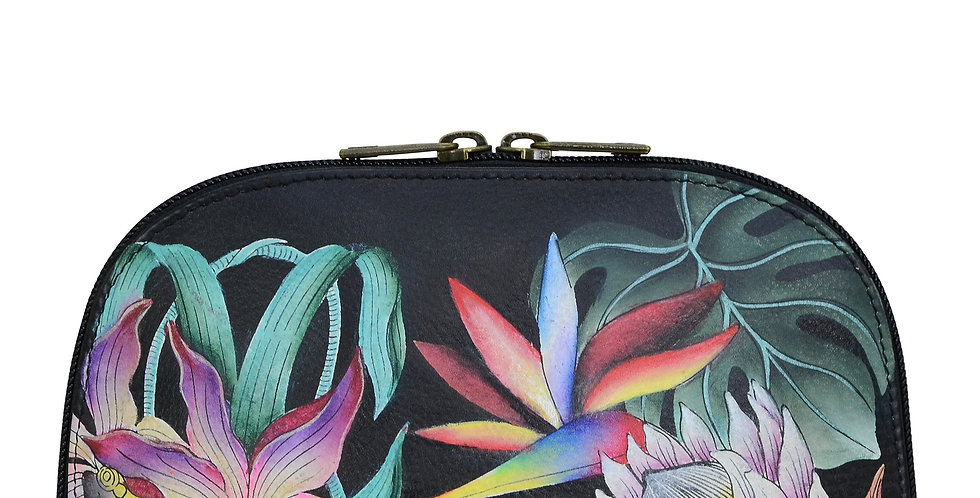 *Island Escape, Black, Large Cosmetic Pouch by Anuschka