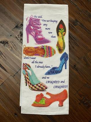 Not Buying Shoes - Original Art Dishtowel