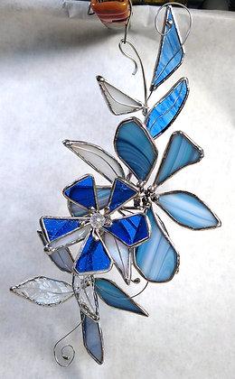 Blue Bayou (double bloom floral spray)