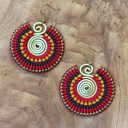 In Your Face - Handwoven Greek Earrings