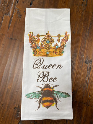 Queen Bee - Original Art Dishtowel