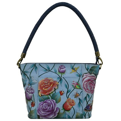 """Roses D'Amour"" medium top-zip tote by Anuschka"