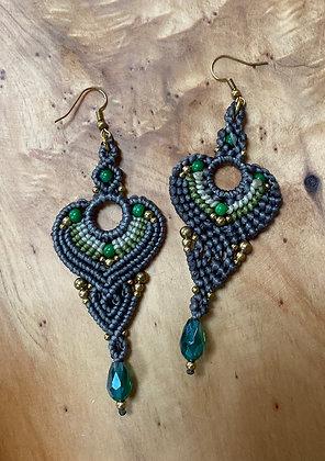 Your Majesty (Megaleiótate) - Handwoven Greek Earrings