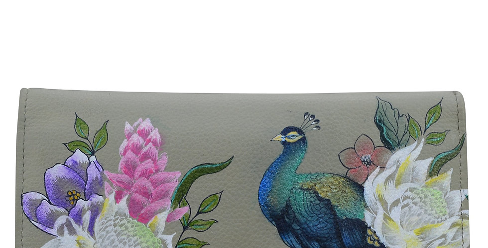 *Regal Peacock Checkbook Clutch with RFIDby Anuschka