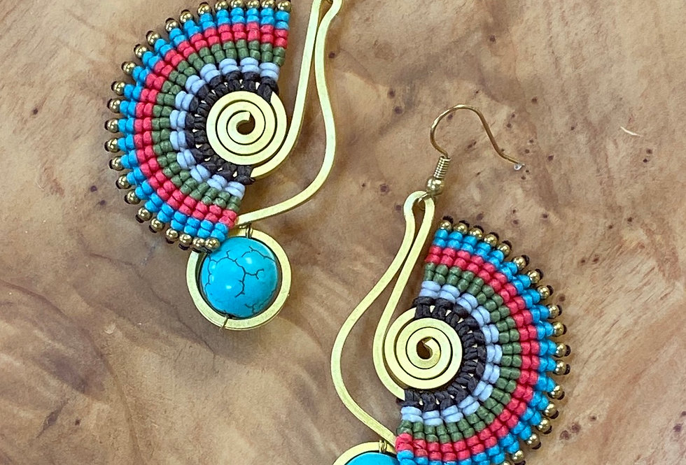 Peacock & Pebble - Handmade Greek Earrings