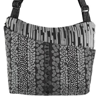 """""""Cottage Bag"""" in Black/Grey by Maruca Design"""