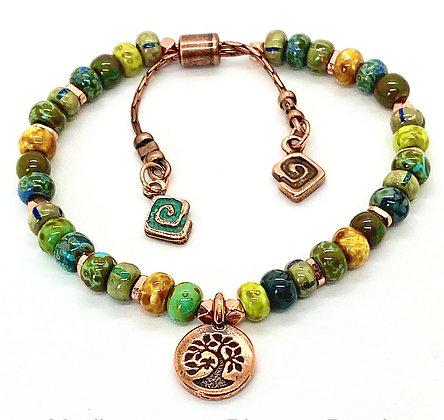 Tree of Life Mediterranean Picasso Bead Bracelet