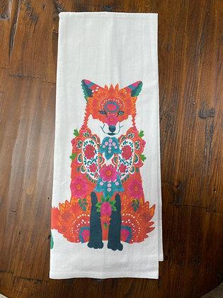 Fancy Fox - Original Art Dishtowel