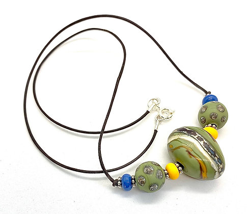 What Am I Looking At, Lampwork Necklace
