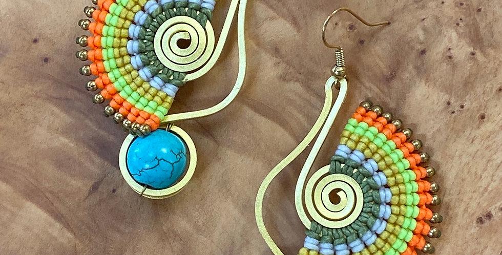 Aegean Roller (kýlindro Aigaíou) - Handmade Greek Earrings