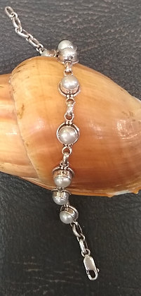 Pearl and Sterling Silver Bracelet