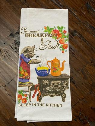 Breakfast in Bed - Original Art Dishtowel