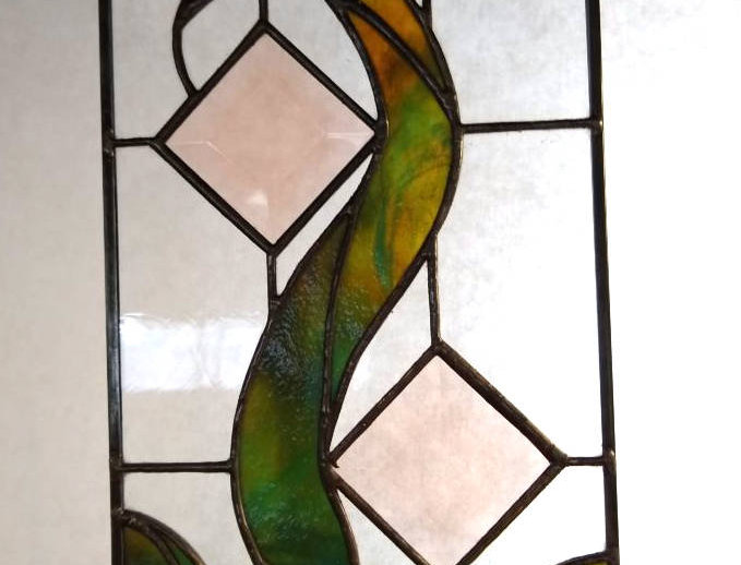 Small Abstract Stained Glass Panel