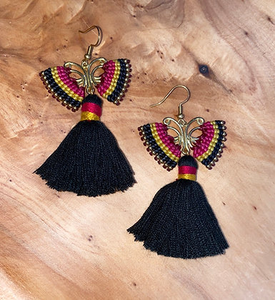 Night Angel - Handwoven Greek Earrings
