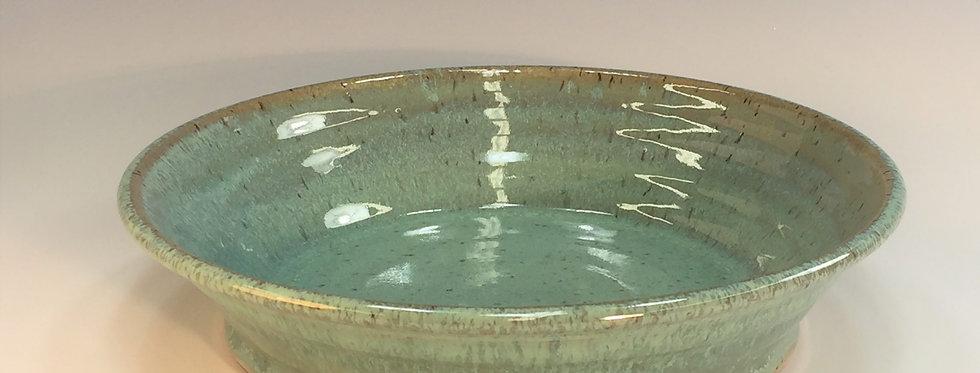 Deep Dish Pie Plate, Sea Spray Opal