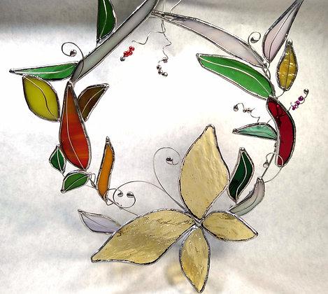 Golden Butterfly Wreath