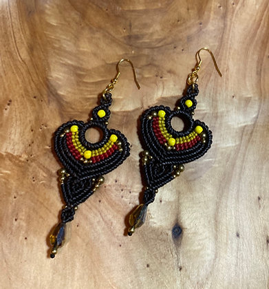Black Majesty (mávro megaleío) - Handmade Greek Earrings