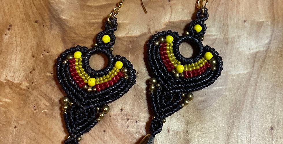Black Majesty (mávro megaleío) - Handmade Greek Earrings