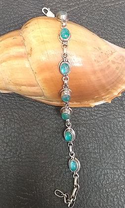 Blue Moonstone & Sterling Silver Bracelet