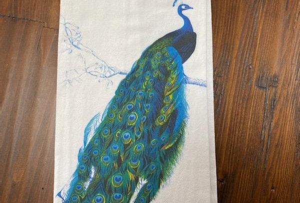 Peacock Glory - Original Art Dishtowel