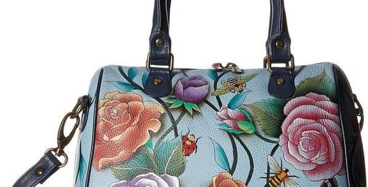 Roses D'Amor Zip-Around Classic Satchel, by Anuschka