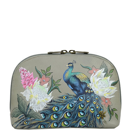 *Regal Peacock Large Cosmetic Pouch, by Anuschka