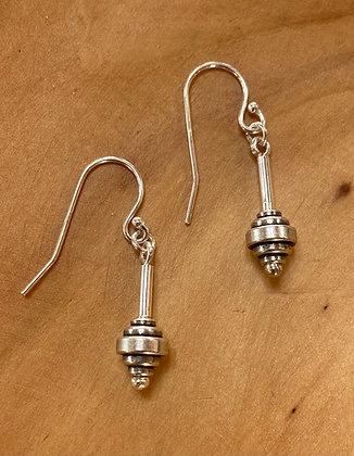 Pewter & Sterling Silver Earrings