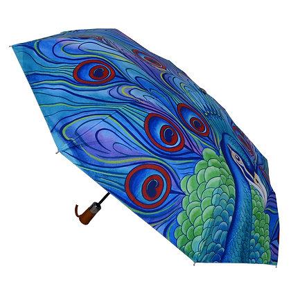 """Jeweled Plume"" Printed Umbrella"