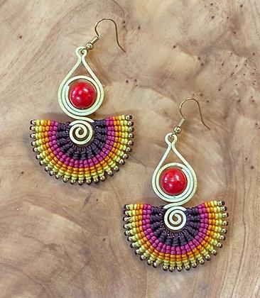 Pythia - Handwoven Greek Earrings
