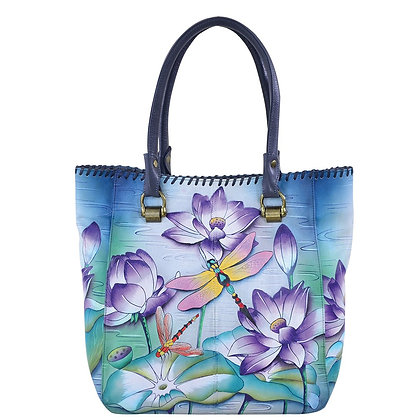 Tranquil Pond Tall Tote with Double Handle, by Anuschka