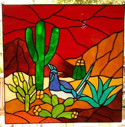 Desert Divine, Stained Glass Panel