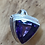 Thumbnail: 16mm Trillion Amethyst Knock Out Bezel Set in Sterling Silver