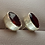 Thumbnail: 6x8mm Oval Faceted Garnet Studs Set in Sterling Silver